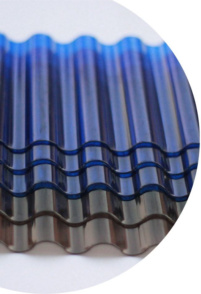 Air Roof Ventilators Embossed Polycarbonate Sheet Wind
